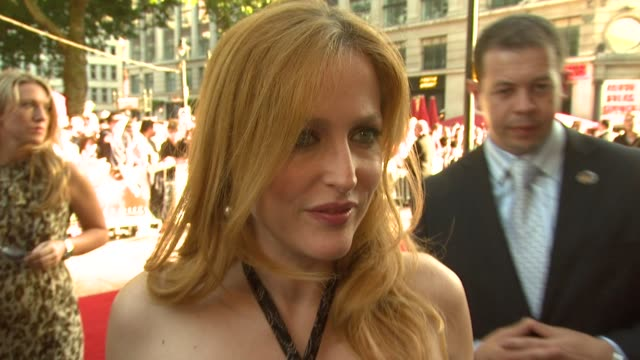 Gillian Anderson on the challenges playing this role again and with the hope there will be another sequel at the XFiles I Want To Believe UK Premiere...