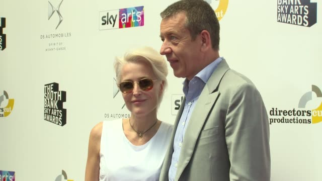 gillian anderson peter morgan at the savoy hotel on july 01 2018 in london england - gillian anderson stock videos & royalty-free footage