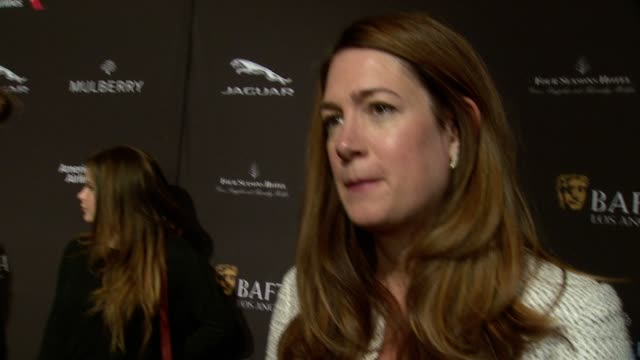 interview gillian flynn on being at the event on what makes the bafta tea party one of the most prestigious events of the weekend and on getting... - tea party stock videos and b-roll footage