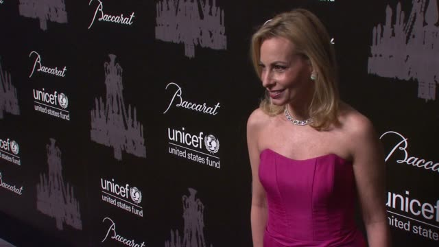 gillian miniter sylvester at the ninth annual unicef snowflake ball at cipriani, wall street on in new york city. - cipriani manhattan stock videos & royalty-free footage