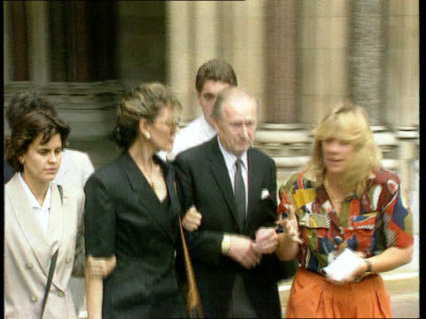 gillian taylforth libel case lost; itn lib 1992 seq jani allen leaving court after libel case - gillian taylforth stock videos & royalty-free footage
