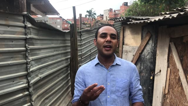 gilson rodrigues community leader in the paraisópolis favela. 'g10 favelas' is a group formed by the ten richest communities in the country comprised... - entrepreneur stock videos & royalty-free footage