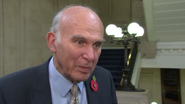 Gina Miller awarded honorary doctorate by University of East London ENGLAND London Westminster INT Vince Cable MP interview SOT re Bank of England /...