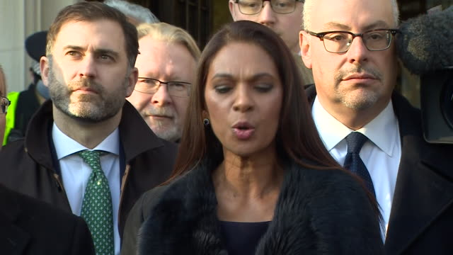 stockvideo's en b-roll-footage met gina miller saying parliament alone is sovereign in a statement outside the supreme court after the court rules in favour of article 50 only being... - artikel