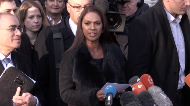 gina miller speaking outside the supreme court following the brexit ruling which dictates that the government cannot trigger article 50 without act... - following stock videos & royalty-free footage