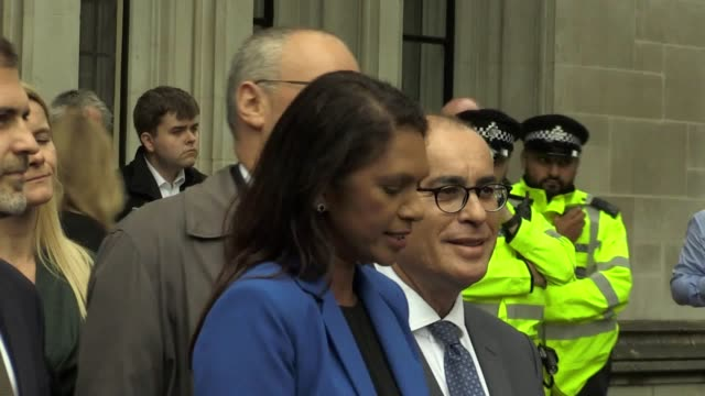 gina miller who led the legal challenge against the move to prorogue parliament said outside the supreme court that it was a win for parliamentary... - moving activity stock videos & royalty-free footage