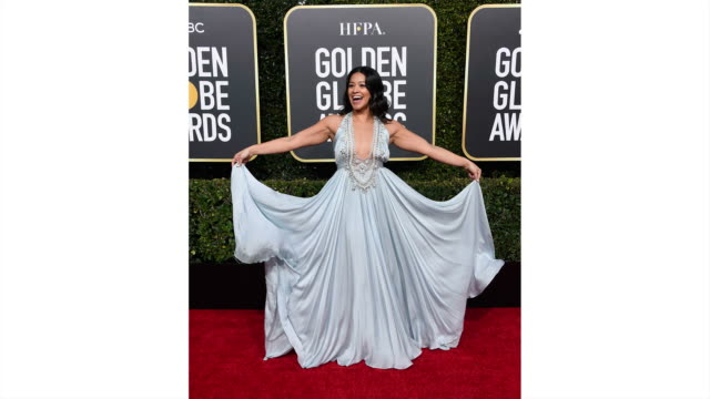 Gina Rodriguez arrives to the 76th Annual Golden Globe Awards held at the Beverly Hilton Hotel on January 6 2019