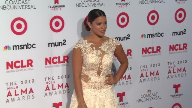 gina rodriguez at 2013 nclr alma awards on 9/27/2013 in pasadena ca - alma awards stock videos and b-roll footage