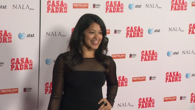 gina rodriguez at casa de mi padre los angeles premiere on 3/14/12 in los angeles ca - padre stock videos & royalty-free footage