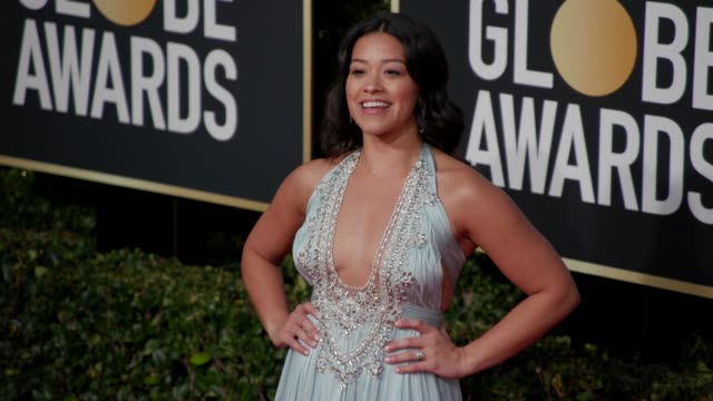 gina rodriguez at the 76th annual golden globe awards at the beverly hilton hotel on january 06, 2019 in beverly hills, california - arrivals- 4k... - the beverly hilton hotel stock videos & royalty-free footage