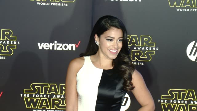gina rodriguez at the star wars the force awakens world premiere at tcl chinese theatre on december 14 2015 in hollywood california - adam rodriguez stock videos and b-roll footage