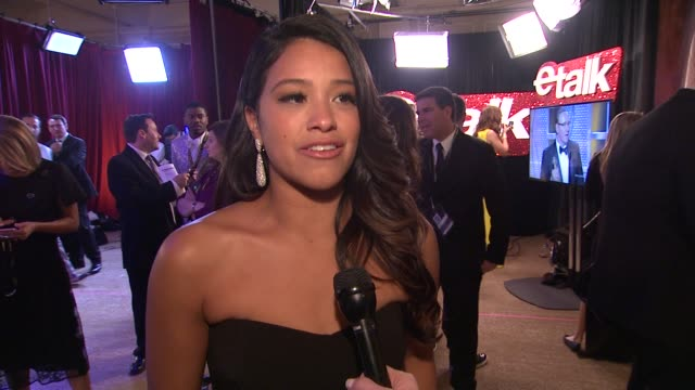 INTERVIEW Gina Rodriguez on how shocked she was to win at 72nd Annual Golden Globe Awards Backstage at The Beverly Hilton Hotel on January 11 2015 in...