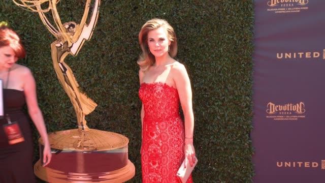 Gina Tognoni at the 44th Annual Daytime Emmy Awards at Pasadena Civic Auditorium on April 30 2017 in Pasadena California