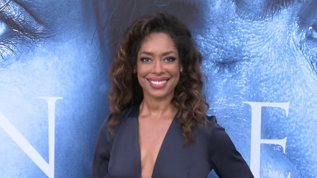 Gina Torres at 'Game of Thrones' Season 7 Premiere at Walt Disney Concert Hall on July 12 2017 in Los Angeles California