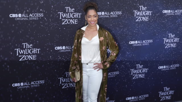 "gina torres at the premiere of ""the twilight zone' at the harmony gold preview house and theater on march 26, 2019 in hollywood, california. - harmony gold preview theatre stock videos & royalty-free footage"