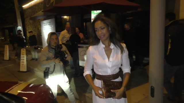 Gina Torres leaves her birthday dinner at Craig's in West Hollywood in Celebrity Sightings in Los Angeles