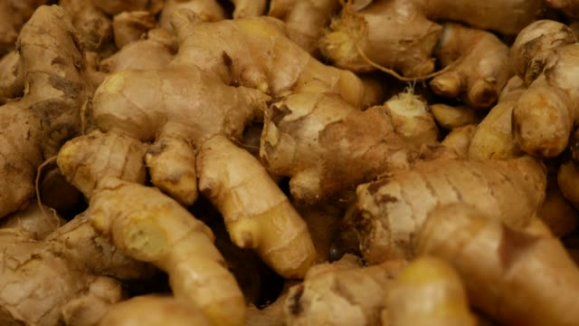 ginger at farmer's market - ginger spice stock videos and b-roll footage