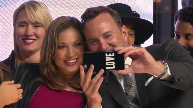 ginger zee and clinton kelly at hearst launches hearstlive a multimedia news installation at 57th street 8th avenue in nyc at hearst tower on... - multimedia stock videos & royalty-free footage