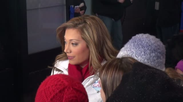 ginger zee on the outside set of the good morning america show in celebrity sightings in new york, - ginger zee stock videos & royalty-free footage