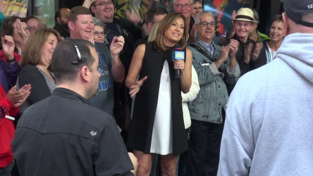 ginger zee outside the set of the 'good morning america' show on september 23, 2015 in new york city. - ginger zee stock videos & royalty-free footage