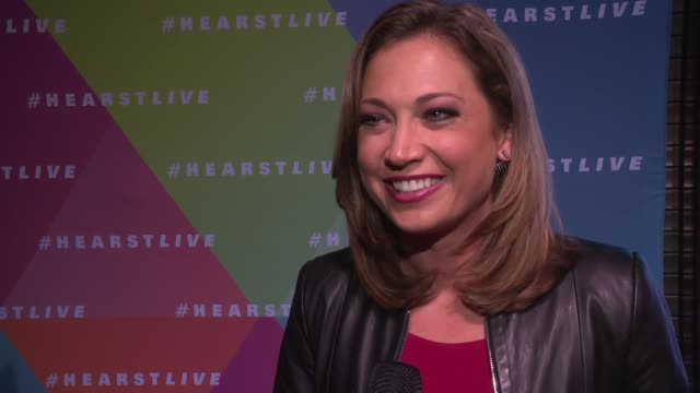 ginger zee talks about what a great reveal it was this evening. she says she's thrilled that so many people will be waking by the streets of nyc to... - ginger zee stock videos & royalty-free footage