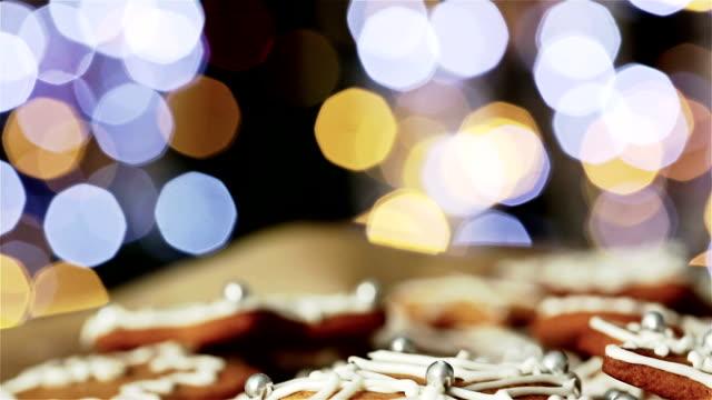 gingerbead cookies - biscuit stock videos & royalty-free footage