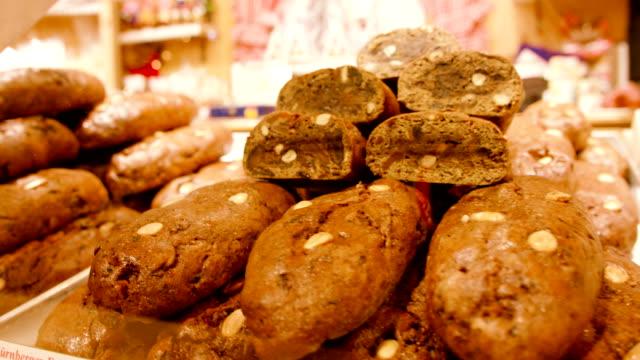 gingerbread at christmas market - nuremberg stock videos & royalty-free footage