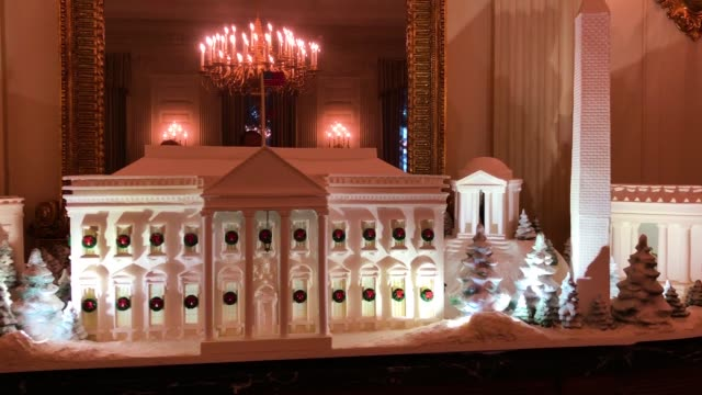 gingerbread buildings from the national mall including the capitol the lincoln memorial the jefferson memorial the washington monument and the white... - jeffersondenkmal stock-videos und b-roll-filmmaterial