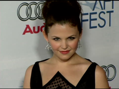 vídeos y material grabado en eventos de stock de ginnifer goodwin at the 20th century fox's 'walk the line' premiere at the opening night gala of the 2005 afi fest at the cinerama dome at arclight... - arclight cinemas hollywood
