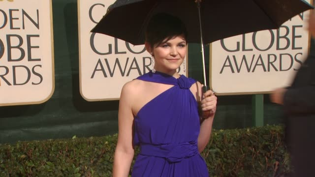 ginnifer goodwin at the 67th annual golden globe awards arrivals part 3 at beverly hills ca - ゴールデングローブ賞点の映像素材/bロール