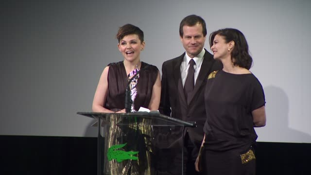 ginnifer goodwin, bill paxton, and jeanne tripplehorn on the event at the 13th annual costume designers guild awards at beverly hills ca. - bill paxton stock videos & royalty-free footage