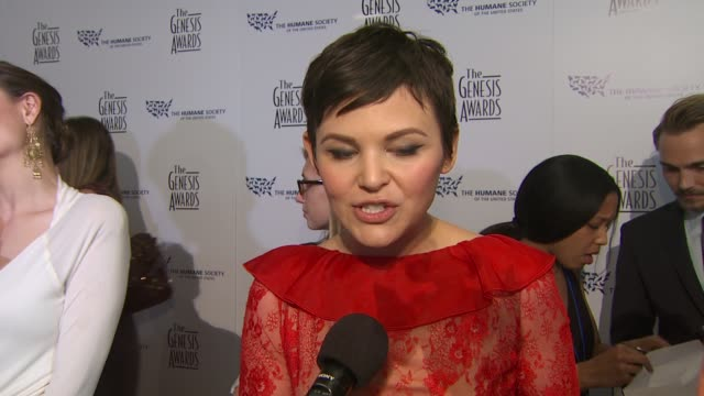 Ginnifer Goodwin on the event the honoree at the 24th Genesis Awards at Beverly Hills CA
