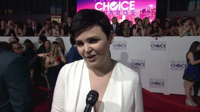INTERVIEW Ginnifer Goodwin on what her nomination means to her her favorite fan experience at People's Choice Awards 2015 in Los Angeles CA