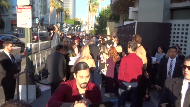 gino vento signs for fans outside the mayans mc season 2 premiere at arclight cinerama in hollywood in celebrity sightings in los angeles - vento stock videos & royalty-free footage
