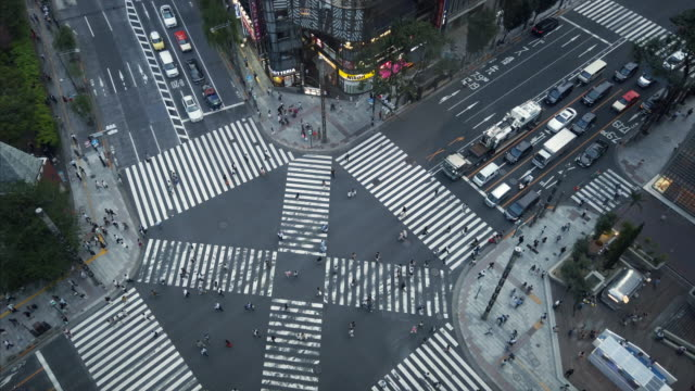 ginza cross - crossroad stock videos & royalty-free footage