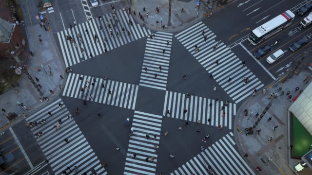 ginza crossing street - road junction stock videos & royalty-free footage