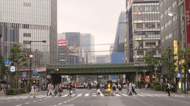 東京、銀座 - 通り点の映像素材/bロール