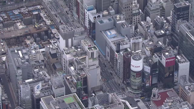 aerial, ginza, tokyo, japan - ginza stock videos & royalty-free footage