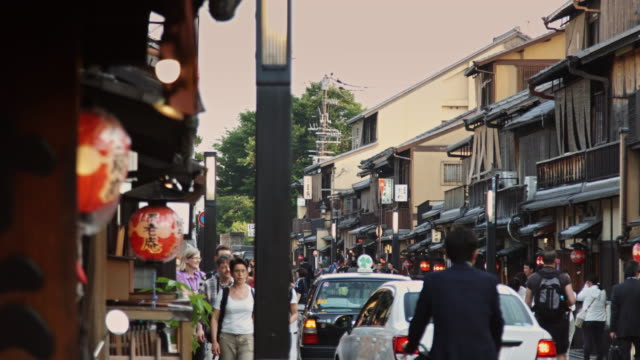 gion street scene - gion stock videos and b-roll footage