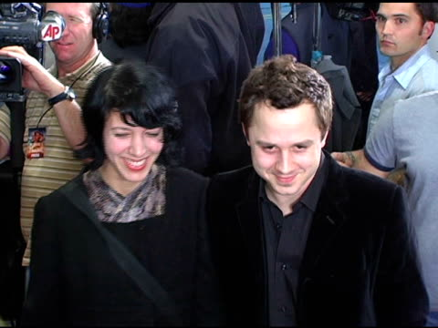 giovanni ribisi and carla azar at the 'flight of the phoenix' los angeles premiere at the bruin theatre in westwood, california on december 15, 2004. - giovanni ribisi stock videos & royalty-free footage