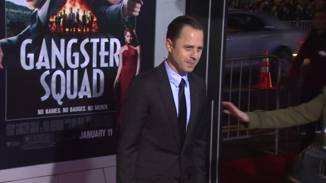 giovanni ribisi at gangster squad los angeles premiereon 1/7/2013 in hollywood, ca. - giovanni ribisi stock videos & royalty-free footage