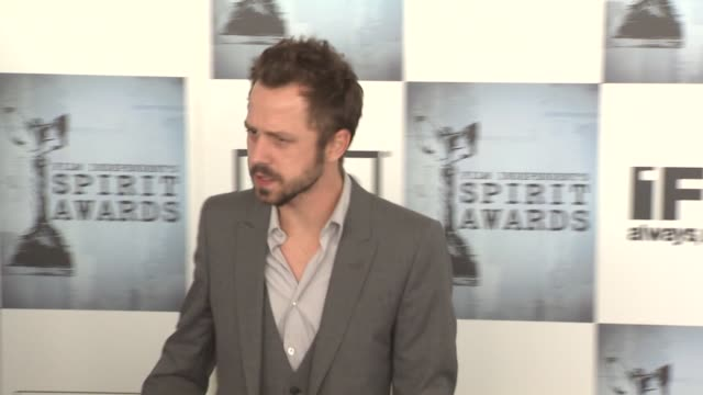 giovanni ribisi at the film independent's 2009 spirit awards arrivals part 4 at los angeles ca. - giovanni ribisi stock videos & royalty-free footage