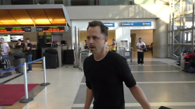 giovanni ribisi departing at lax airport in los angeles in celebrity sightings in los angeles, - giovanni ribisi stock videos & royalty-free footage