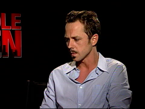 giovanni ribisi on if they found themselves asking producer christopher mallick about his real-life experiences at the 'middle men' junket at los... - giovanni ribisi stock videos & royalty-free footage
