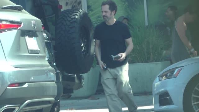 giovanni ribisi runs errands in beverly hills in celebrity sightings in los angeles, - giovanni ribisi stock videos & royalty-free footage