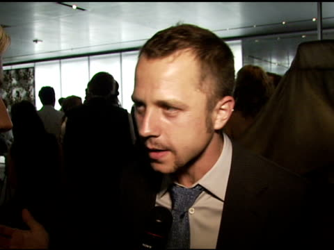 giovanni ribisi, wearing prada, on his prada suit, on the way prada fits at the los angeles opening of 'waist down - skirts by miuccia prada'... - giovanni ribisi stock videos & royalty-free footage