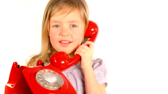 girl answers phone - landline phone stock videos and b-roll footage