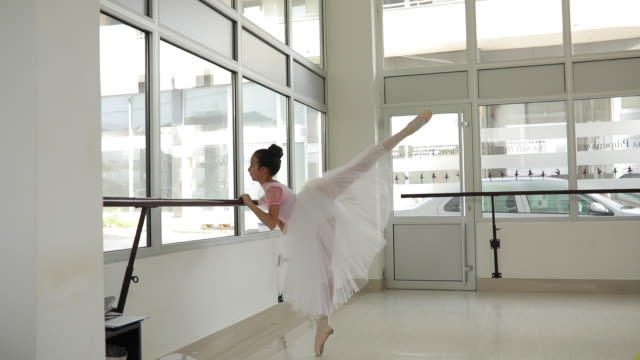 girl ballet dancer training alone - small stock videos & royalty-free footage