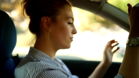 girl car stopped - driver stock videos & royalty-free footage