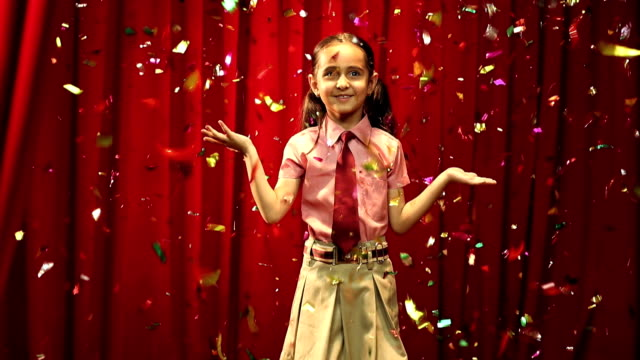 MS Girl celebrating success during annual day